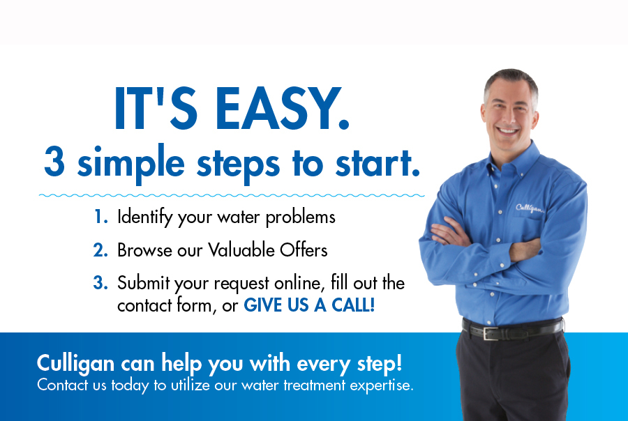 Steps to Contacting Culligan, simple steps